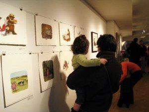Children and adults enjoy Rachel's artwork