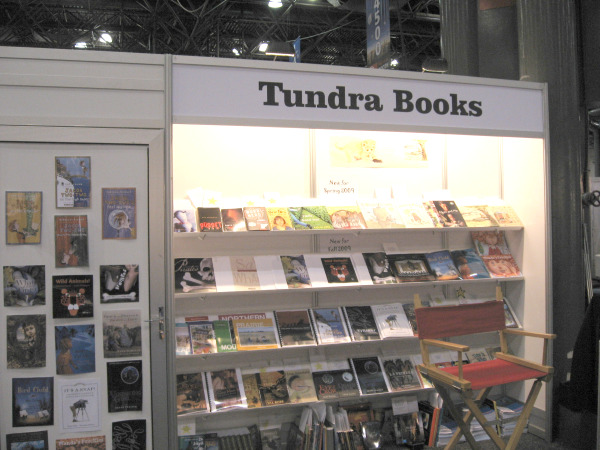 Tundra Books' booth at BEA09