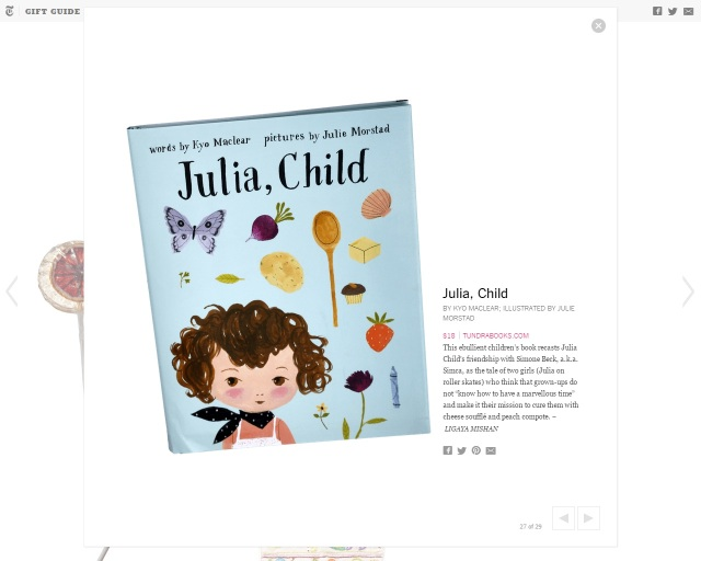 JuliaChild_NYT Gift Guide