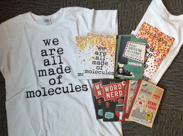 fcf5fe783 Two lucky winners will receive: one We Are All Made of Molecules T-shirt,  one signed ARC of We Are All Made of Molecules, one signed paperback of  Dear ...