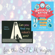 https://penguinrandomhouse.ca/books/549175/can-you-find-my-robots-arm#9781101919033 / https://penguinrandomhouse.ca/books/558049/innovation-nation#9780735263017